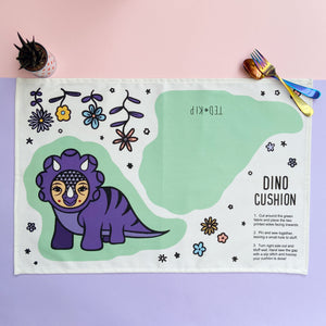 Dino Cut And Sew Cushion Tea Towel