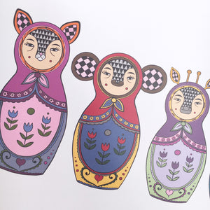 Exotic Animal Russian Doll Print