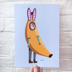 Banana Rabbit Print