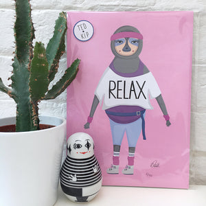 Relax Sloth Print