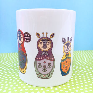 Exotic Animals Russian Doll Mug