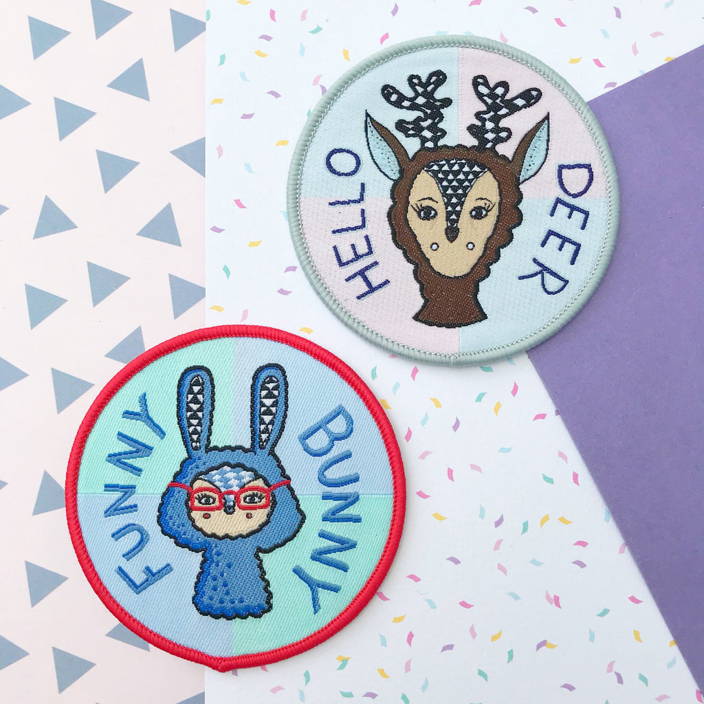 SALE Rabbit AND Deer Patch Set