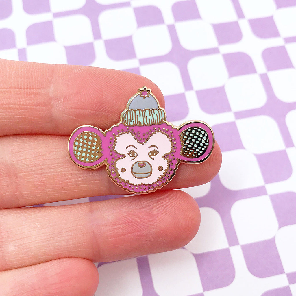 Monkey Enamel Pin