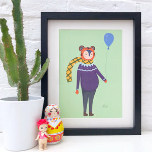 Tiger with a Balloon Print