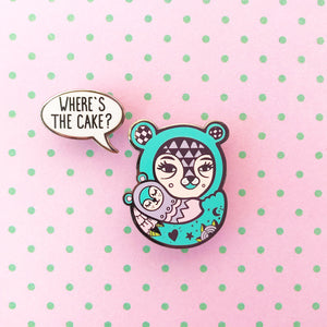 Where's The Cake Hard Enamel Pin