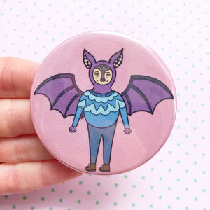 Bat Button Badge