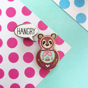 Hangry Enamel Pin