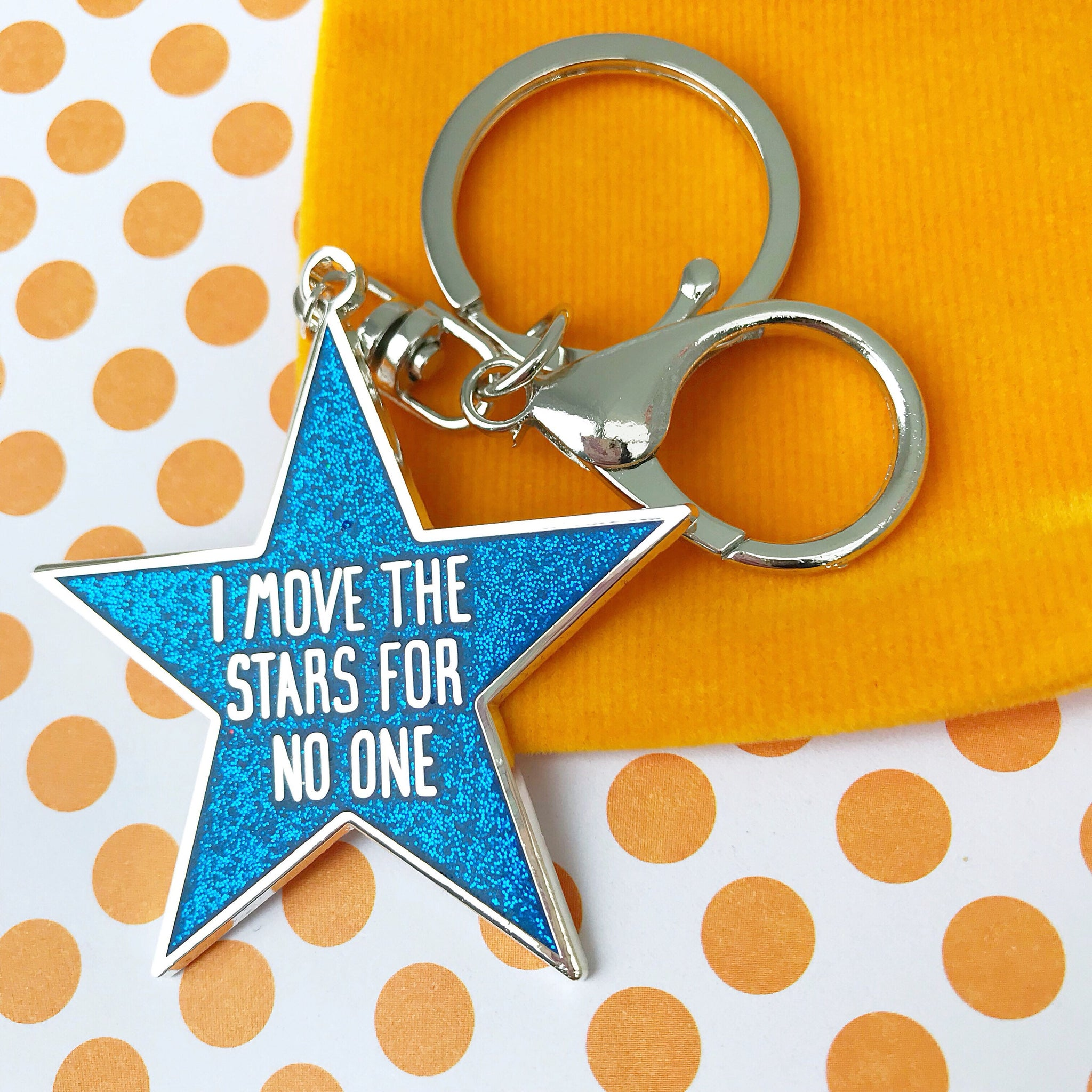 I Move The Stars For No One Enamel Bag Charm (Blue)