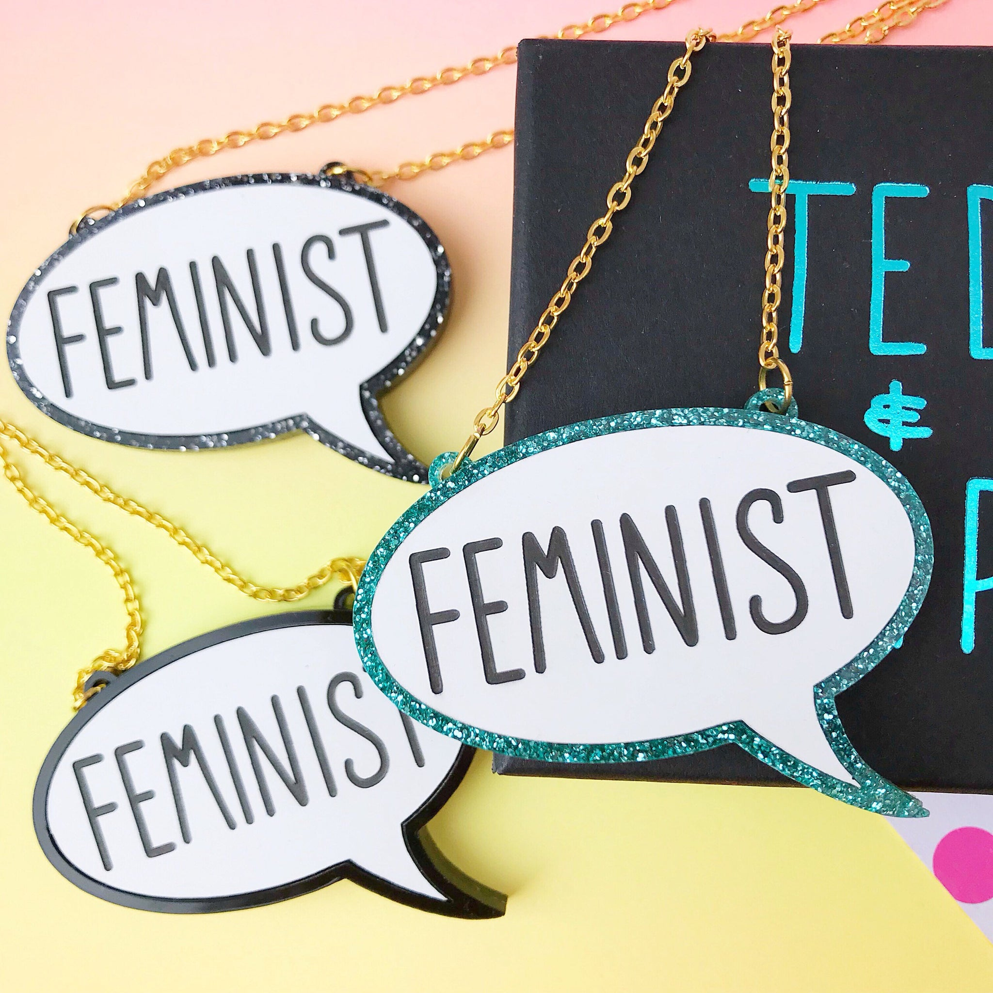 Feminist Acrylic Necklace