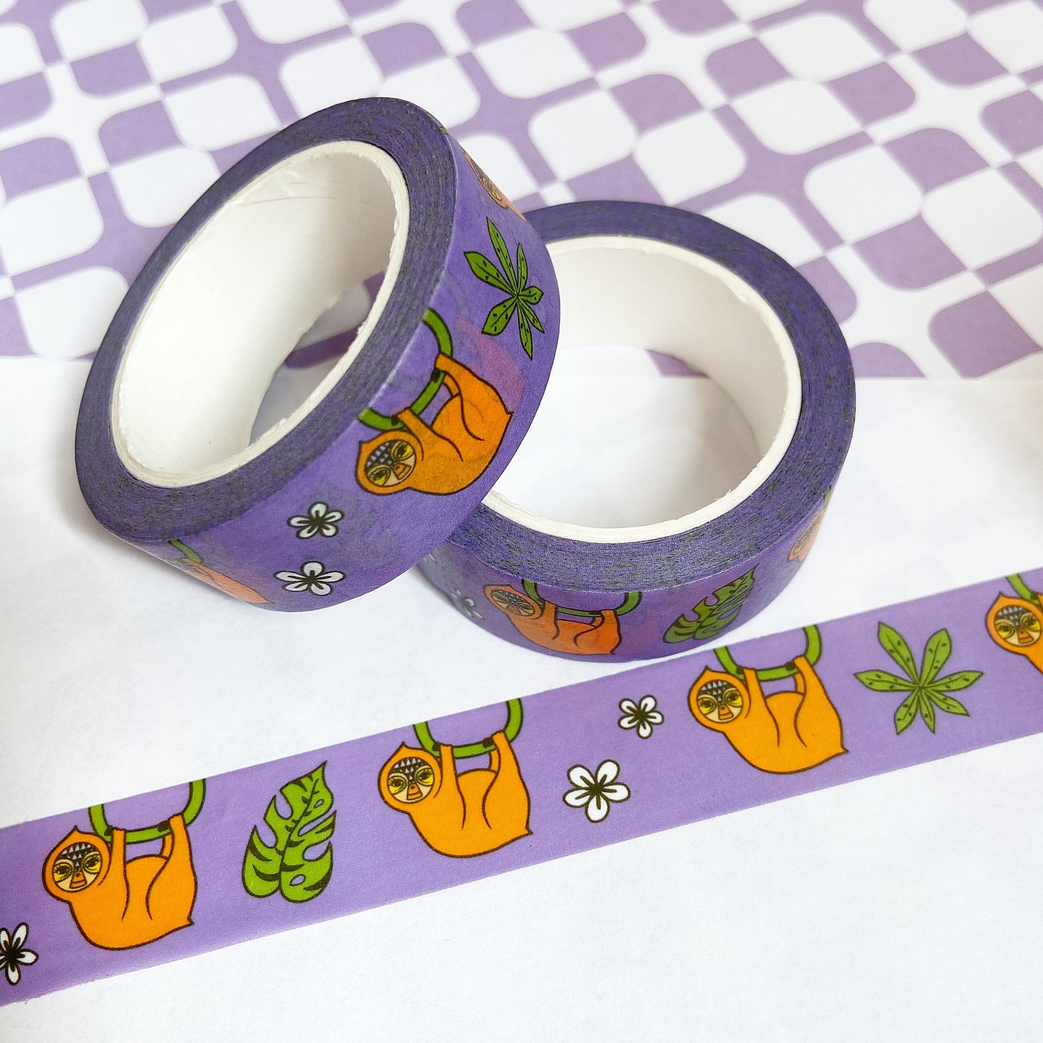 Purple Sloth Washi Tape
