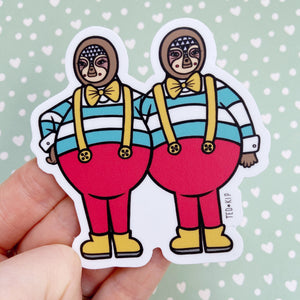 Tweedle Dee and Tweedle Dum Vinyl Sticker