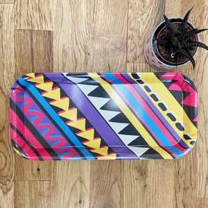 Zig Zag Stripes Print Melamine Tray (Small Rectangular)