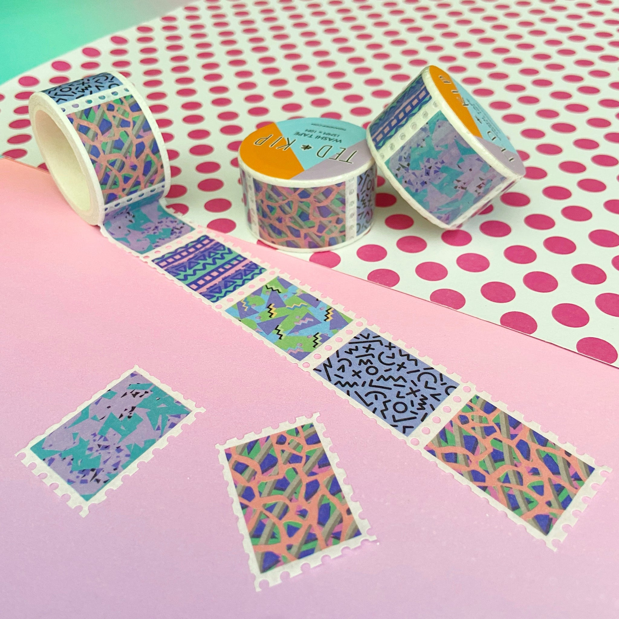 Pattern Stamp Washi Tape (Pastel)