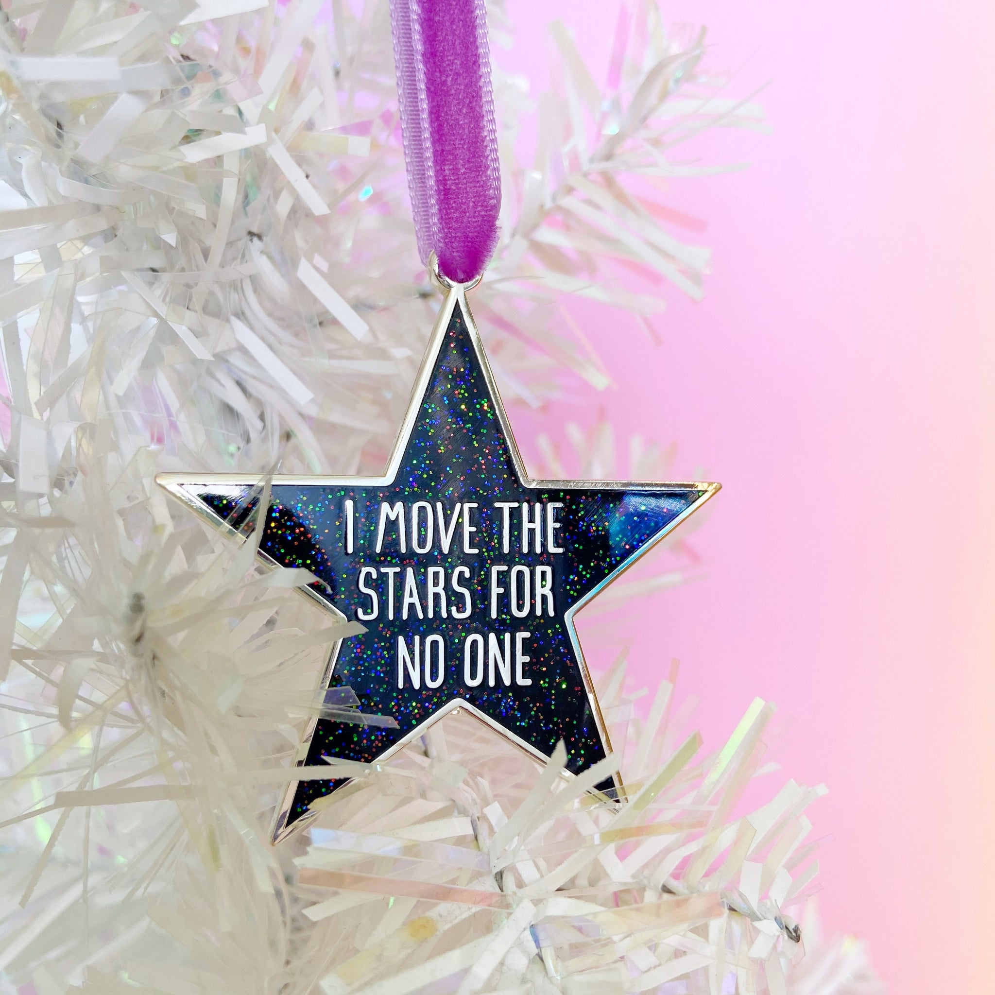 I Move The Stars For No One Decoration (black)