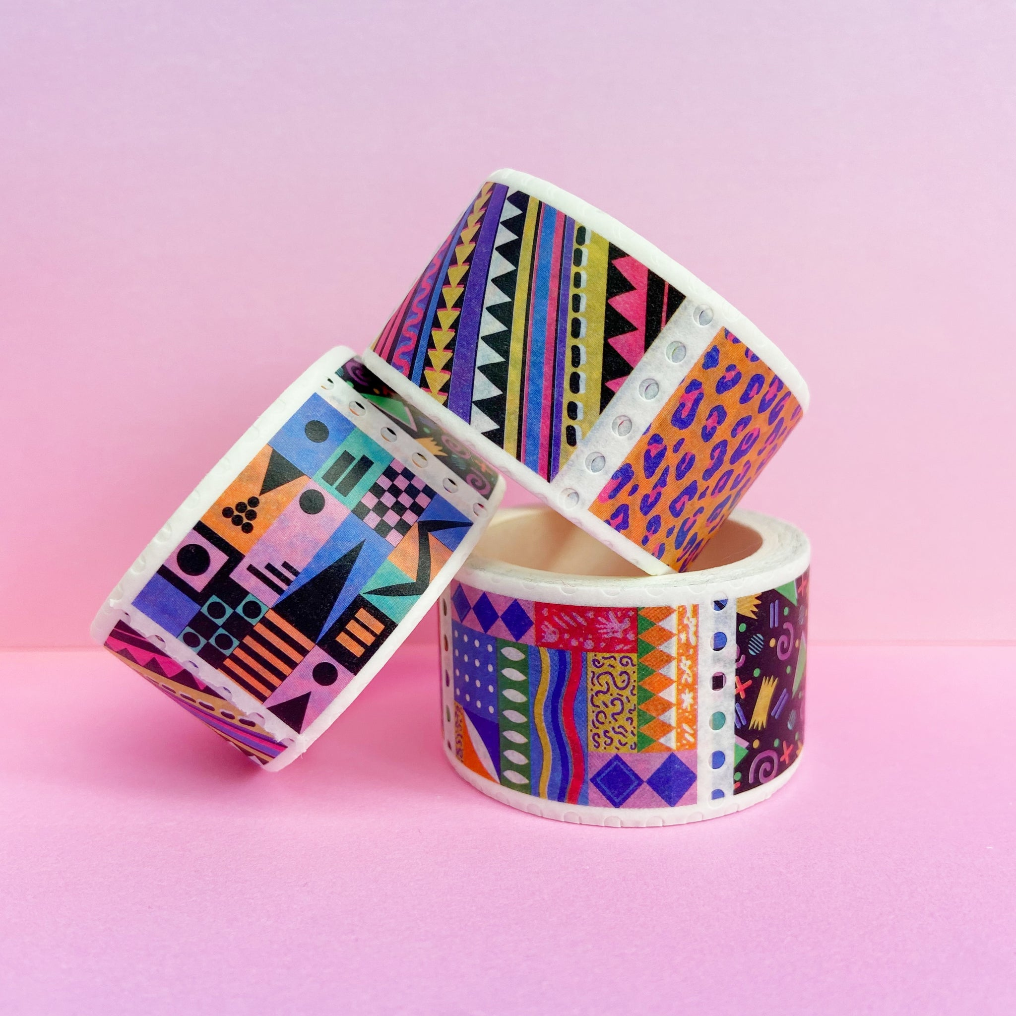 Pattern Stamp Washi Tape (Bright)