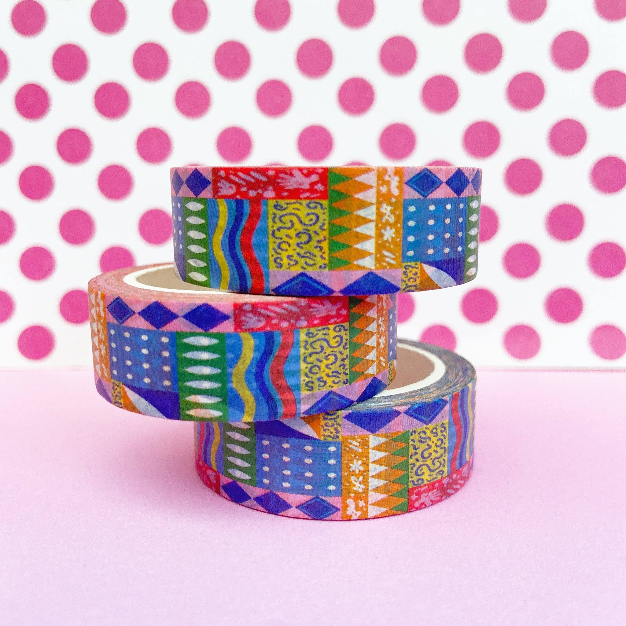 Abstract Rainbow Pattern Washi Tape