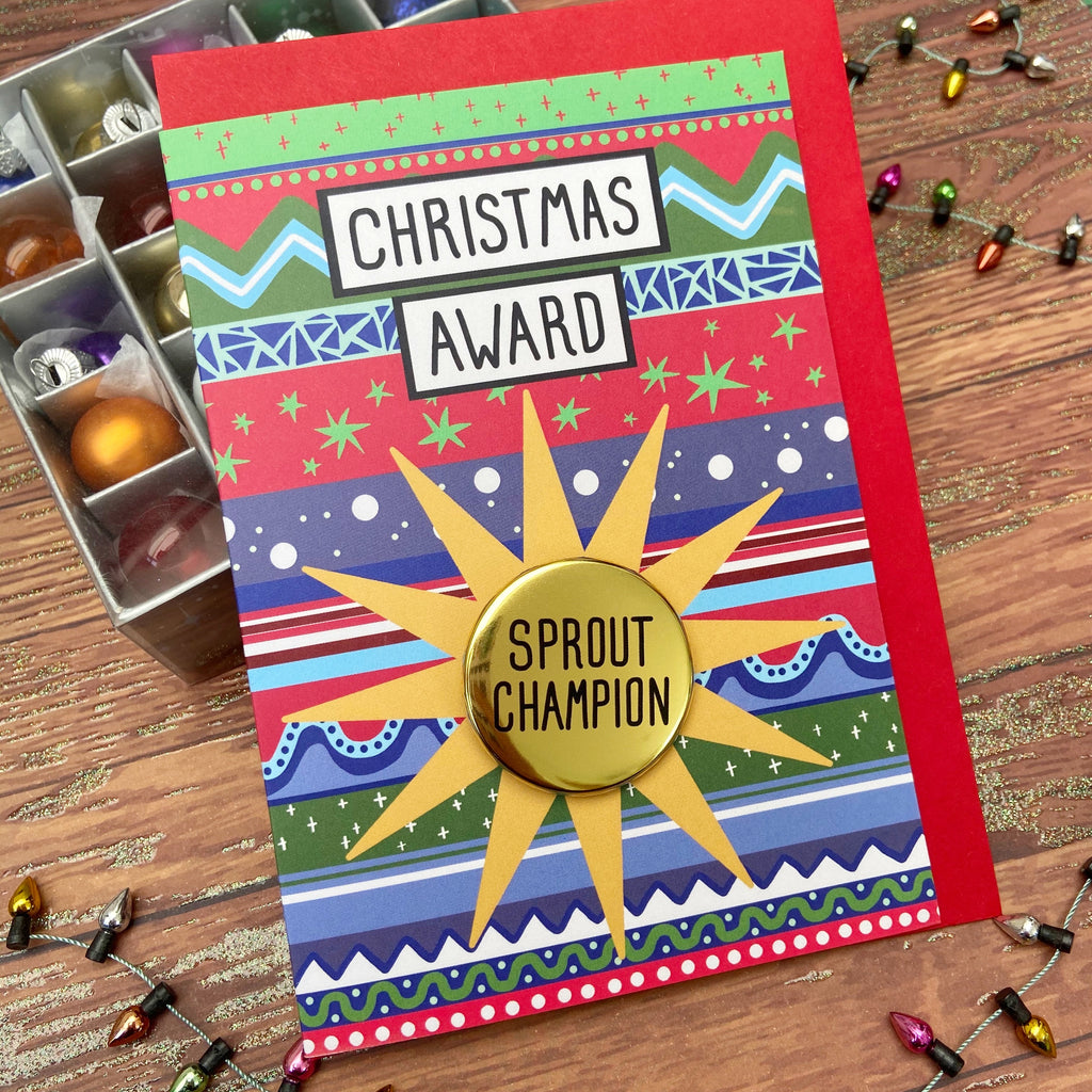 Sprout Champion - Christmas Awards Card