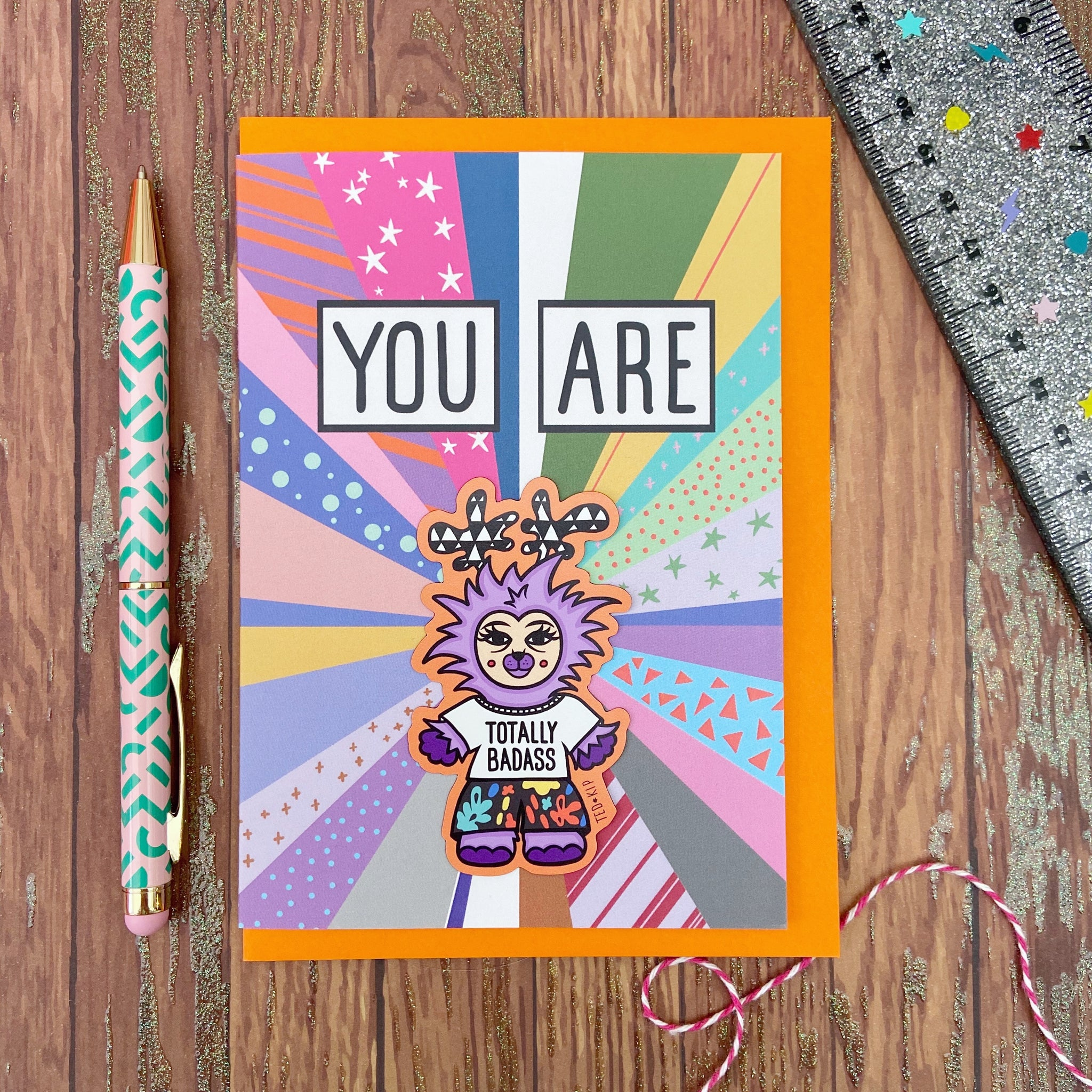You Are Totally Badass Magnet Card