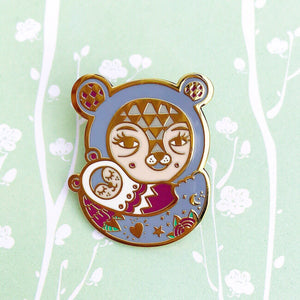 Mama Bear Pin (Grey)