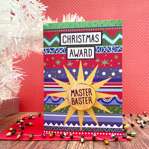 Master Baster - Christmas Awards Card