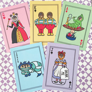 Set Of TEN Alice In Wonderland Postcards