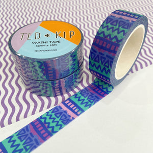 Abstract Blue Pattern Washi Tape
