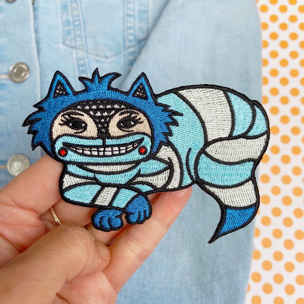Cheshire Cat Embroidered Patch