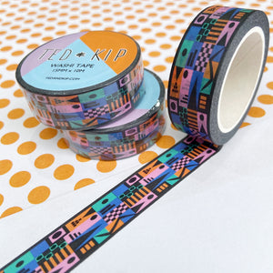 Abstract Black Washi Tape