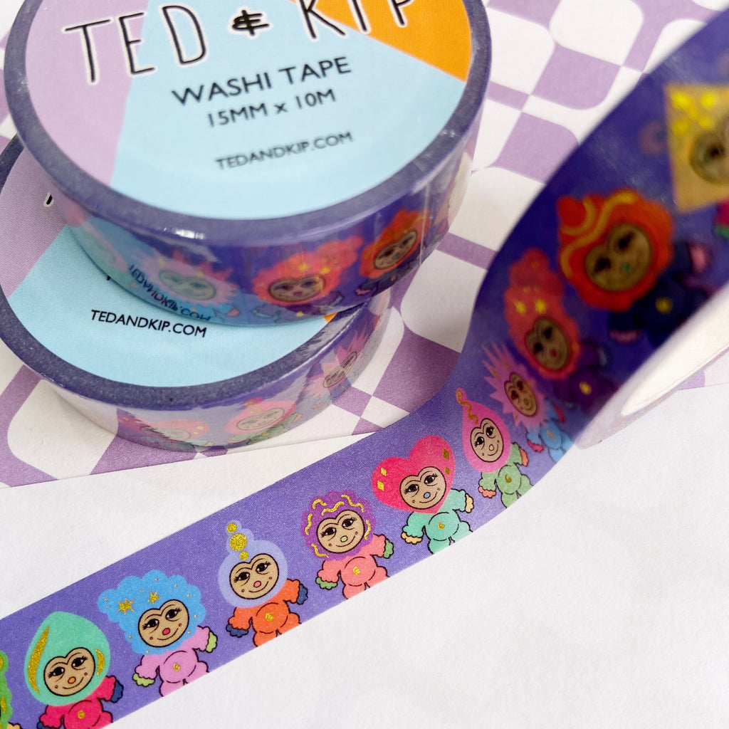 Mini Monsters FOIL Washi Tape