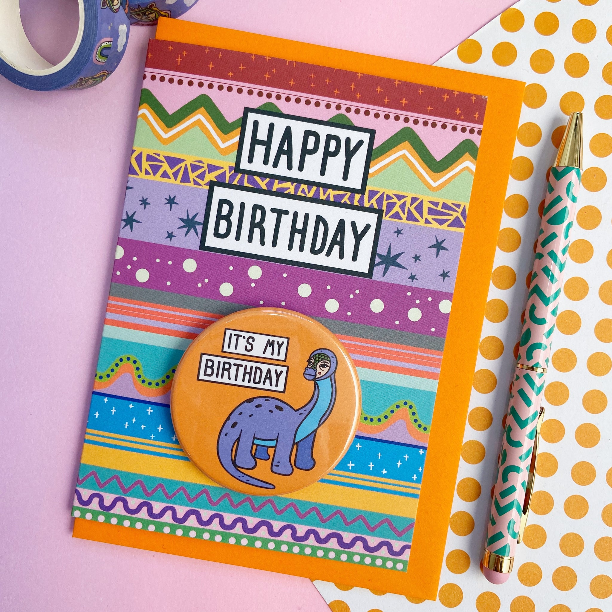 Happy Birthday Dino Card