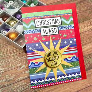 On The Naughty List - Christmas Awards Card