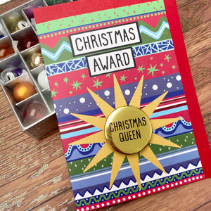 Christmas Queen - Christmas Awards Card