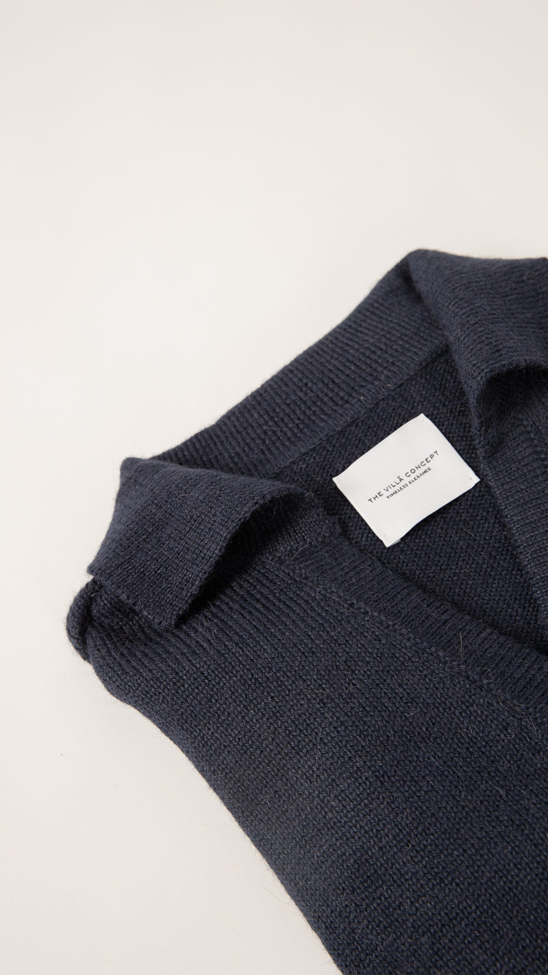 The Alpaca Navy Polo