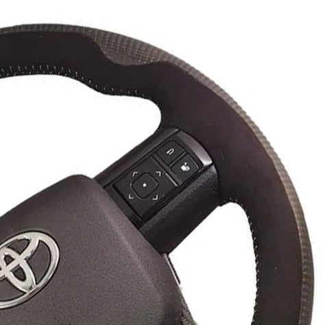 **CLEARANCE** Toyota Hilux Bentley Style Elite Carbon Fibre/Alcantara Steering Wheel Kit