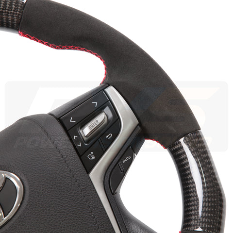 Toyota TRD Elite Flat Bottom Carbon Fibre/Alcantara Steering Wheel Kit