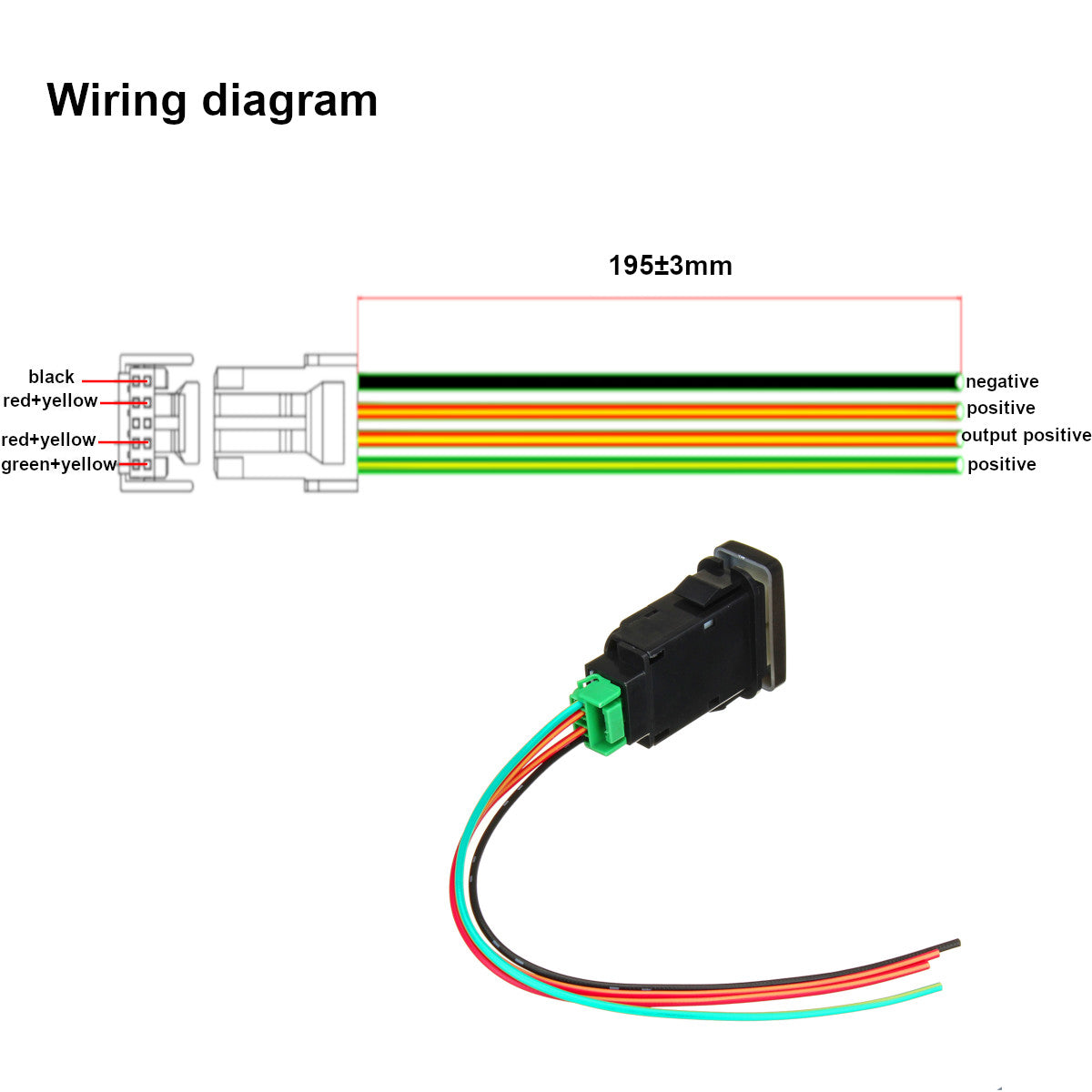 Horizontal White Led Push Switch For Toyota Hilux Hiace Fj Cruiser Auxiliary Lights Wiring Diagram Prado 79 Series Landcruiser