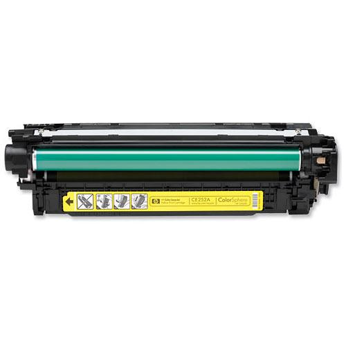 Compatible HP CE252A 504A Yellow Printer Laser Toner Cartridge - Toner King