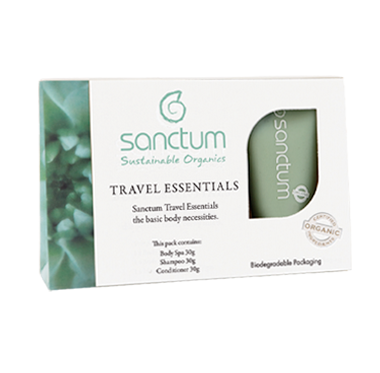 Sanctum Travelkit Essentials 3x30ml (Eko, Vegan) Brun utan sol