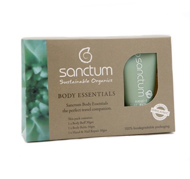 Sanctum Body Essentials Travel 3x30ml (Eko, Vegan) Brun utan sol