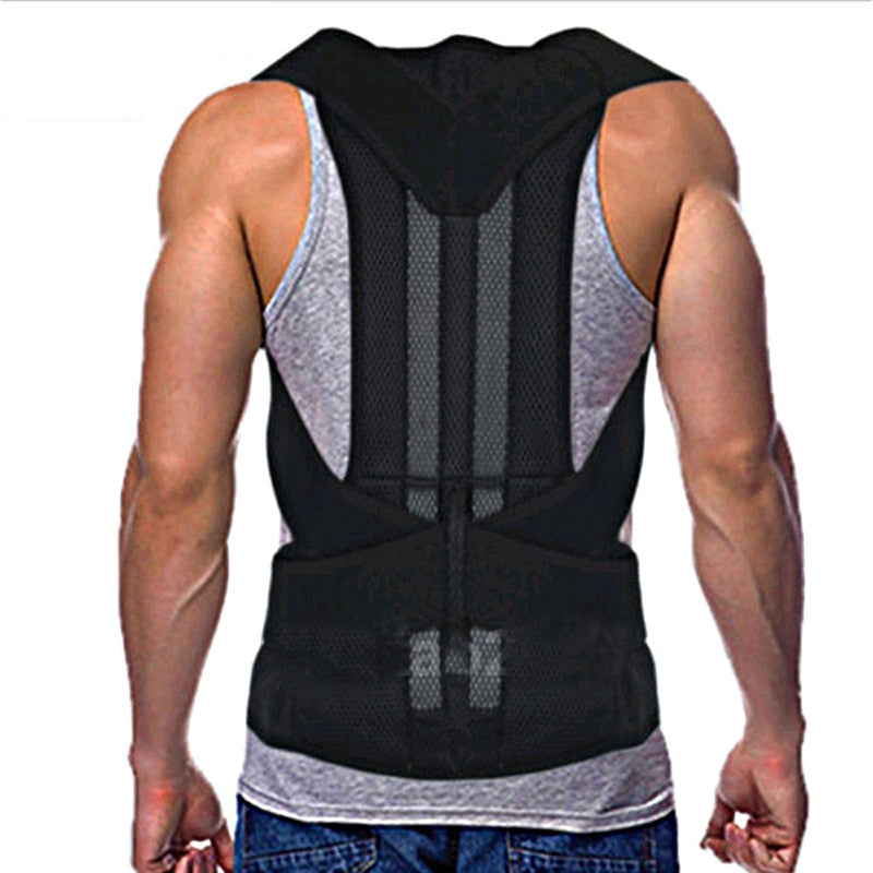 Men's Back Posture Corrector Back Braces Belts Lumbar Support Belt Strap Posture Corset for Men HEALTH CARE AFT-B003