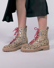 WHITNY BOOTS IN LEOPARD CALF HAIR