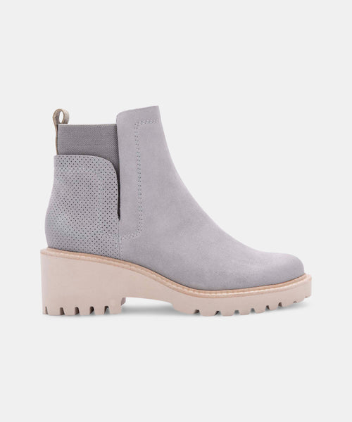 HUEY BOOTIES IN GREY SUEDE -   Dolce Vita