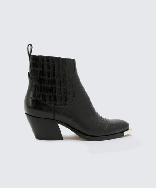 ABIE BOOTIES IN BLACK -   Dolce Vita