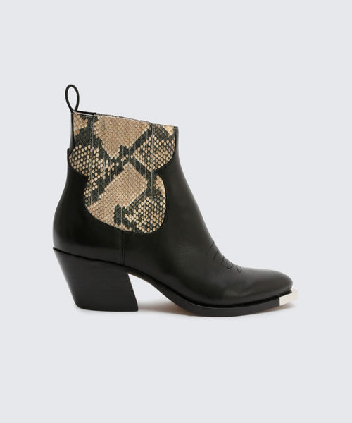 ABIE BOOTIES IN SNAKE -   Dolce Vita