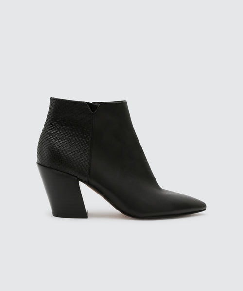 ADEN BOOTIES IN ONYX -   Dolce Vita