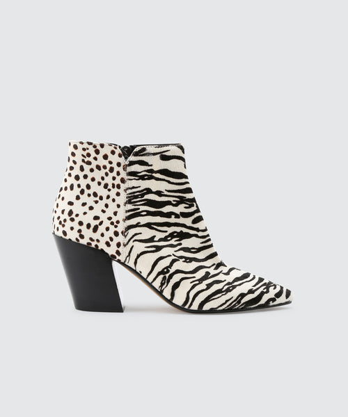 ADEN BOOTIES IN ZEBRA -   Dolce Vita