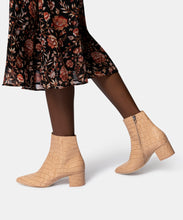 BEL BOOTIES IN CAFE CROCO PRINT LEATHER -   Dolce Vita