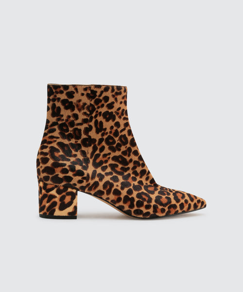 BEL BOOTIES IN DARK LEOPARD -   Dolce Vita
