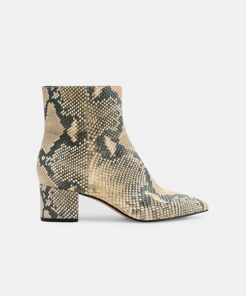 BEL BOOTIES IN SNAKE