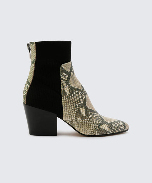 CARIS BOOTIES IN SNAKE -   Dolce Vita